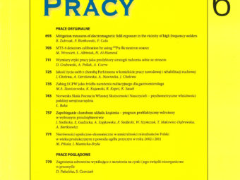 """Newspaper """"Medycyna Pracy"""" – article by the Wrocław University of Technology about high-frequency welding machines"""