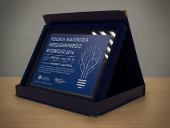 Polish Intelligent Development Award 2016 for FIAB Sp. z o.o. Sp. k.