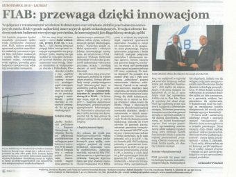 "MONITOR BIZNESU – ""FIAB: Advantage through Innovation"""