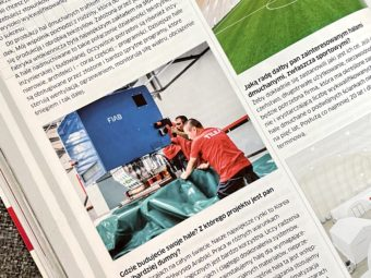 """""""Sports fields and stadiums"""" – TILEA & FIAB in newspaper"""