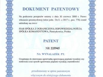 Wir haben ein Patent erhalten