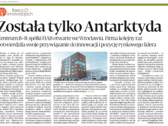 "Nationwide specialist journal ""Puls Biznesu"" writes about Center of Research and Development FIAB"