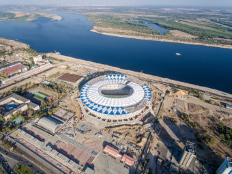 Volgograd Arena – stadion zbudowany z udziałem maszyn FIAB