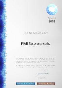 List nominacyjny FIAB Symbol 2018