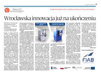 """""""Wrocławska innowacja już na ukończeniu"""" – Puls Biznesu pisze o naszym kolejnym sukcesie"""